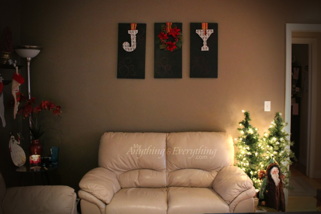 diy joy christmas decoration - Joy Christmas Decoration