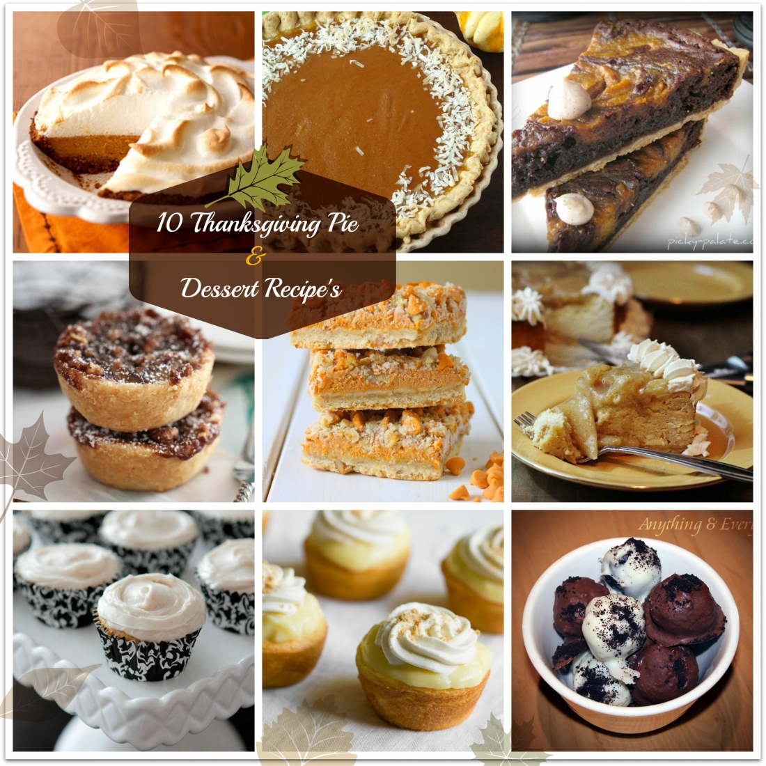 Thanksgiving Pie & Dessert Recipe Round-up
