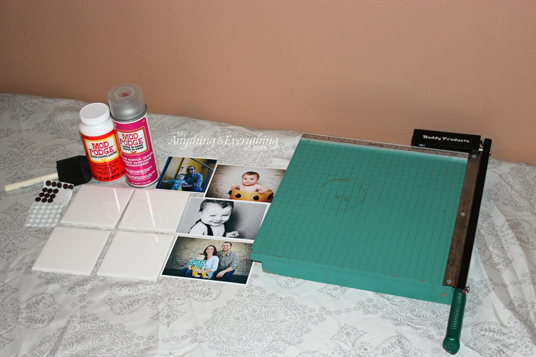 DIY Photo Tile Coasters Supplies