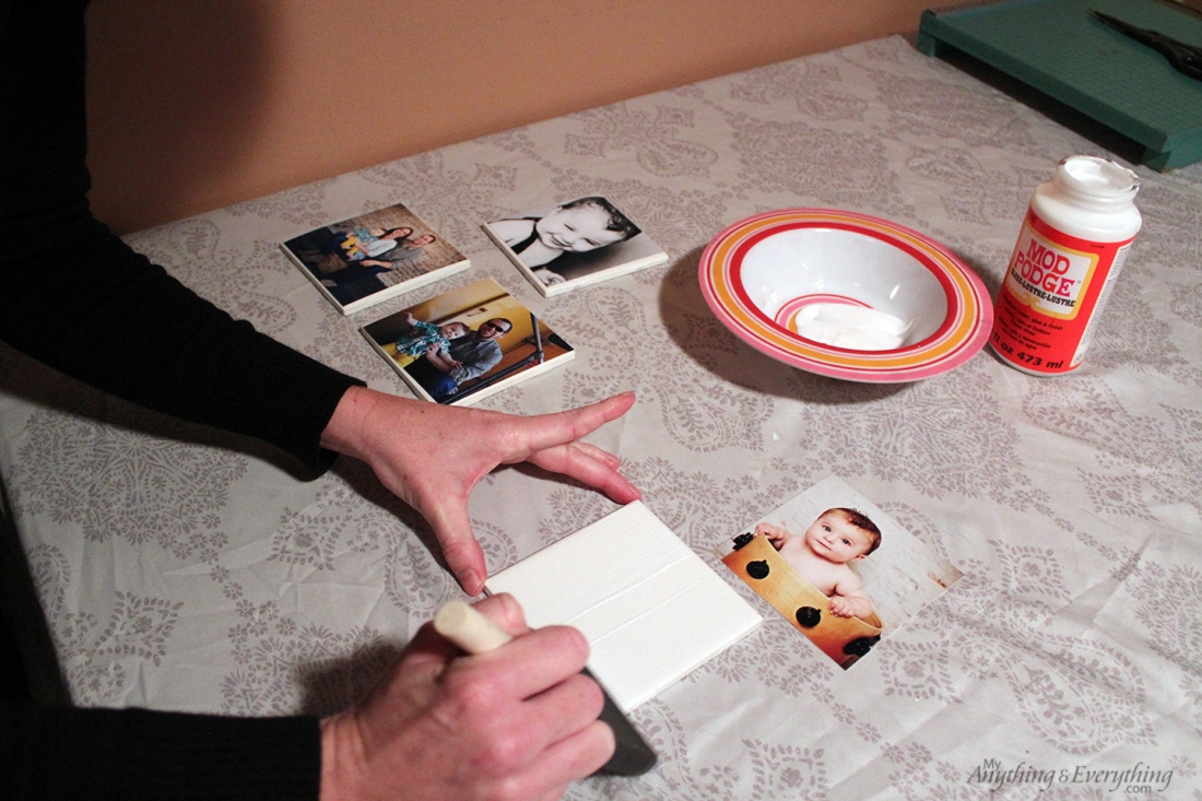 DIY Photo Tile Coasters step 2