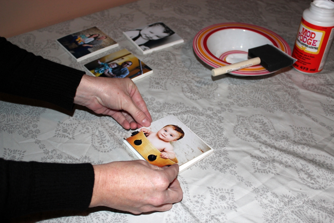 DIY Photo Tile Coasters Step 3