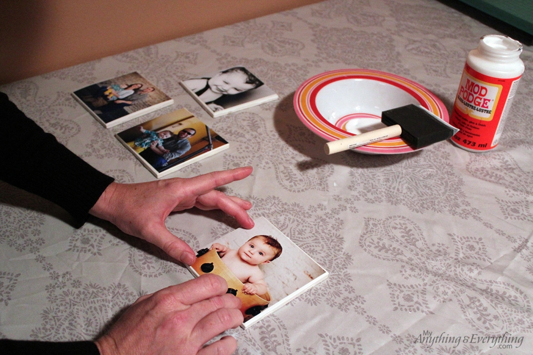 DIY Phot Tile Coasters Step 4