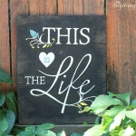 DIY Wood Sign with Printable