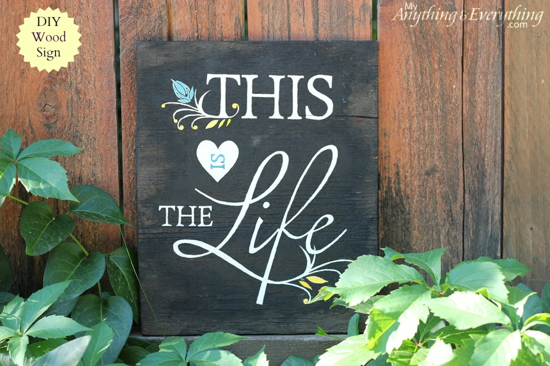 diy wood sign with printable anything. Black Bedroom Furniture Sets. Home Design Ideas