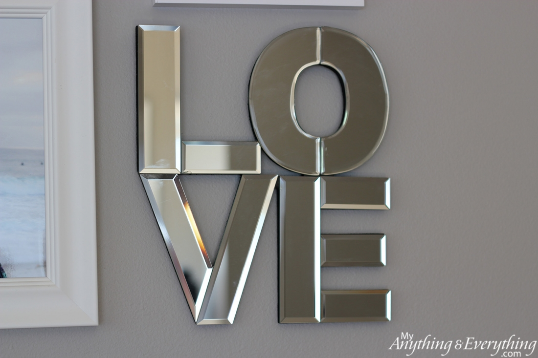 Mirrored Wall Letters Annieericson Love Mirror