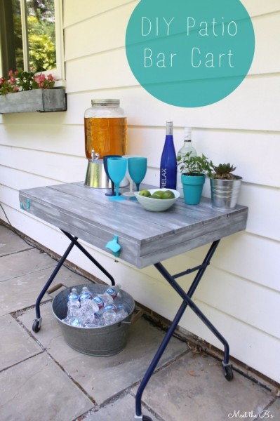 patio bar cart
