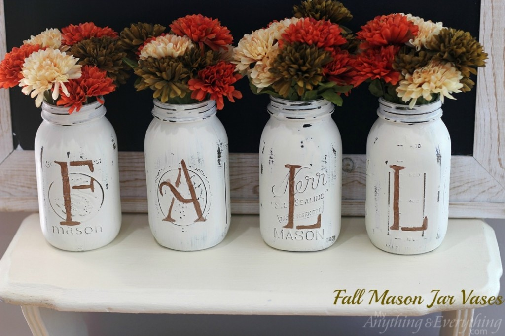 Fall Mason Jar Vases