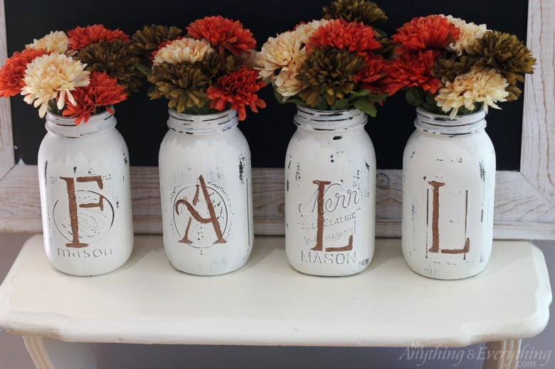 Fall Mason Jar Vases | Anything & Everything: A DIY Blog