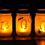 Halloween Mason Jar Luminarias-Guest post for Classy Clutter