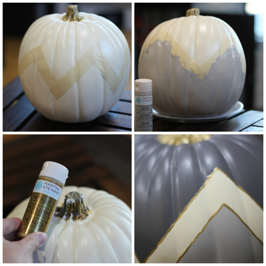 Chevron Pumpkin Steps