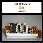 DIY Halloween Boo Letters