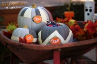 Decorative Painted Halloween Pumpkins