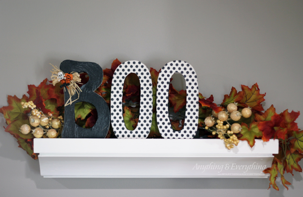 Halloween Boo Letters