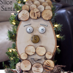 November DIY Challenge – Rustic Wood Slice Santa