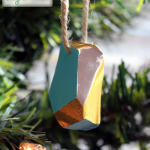 DIY Geometric Clay Ornament {West Elm Inspired} & 30+ Handmade Christmas Ornaments