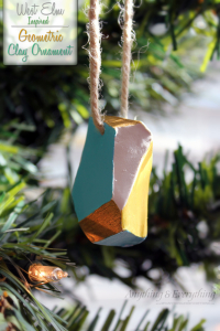West Elm Inspired Geometric Clay Ornament