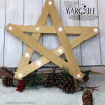 DIY Marquee Star at NY Melrose Family