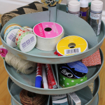 Painted Rotating Organizer – Monthly DIY Challenge