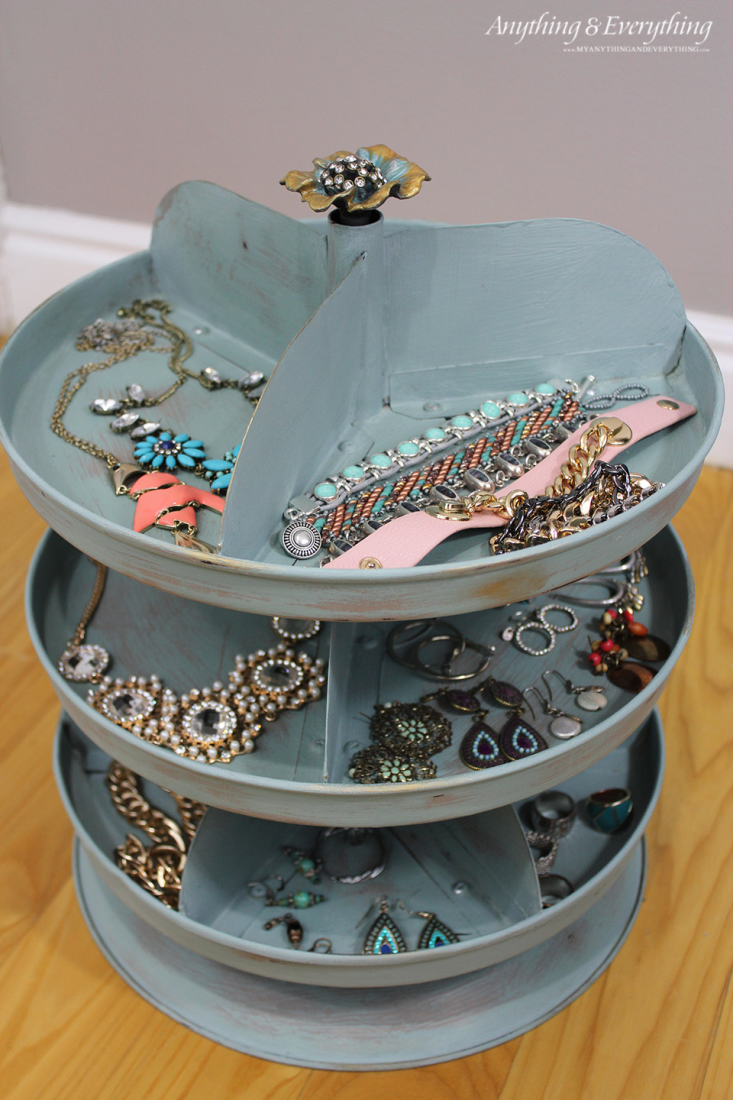 Painted Rotating Jewelry Organizer