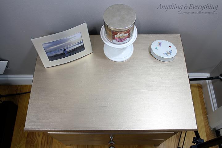 Nightstand makeover using Modern Masters Paint 1