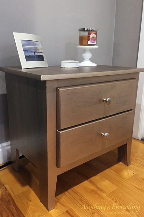 Nightstand makeover using Modern Masters Paint 2