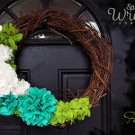 Super Easy Spring Wreath & DIY Tissue Paper Flower Tutorial!