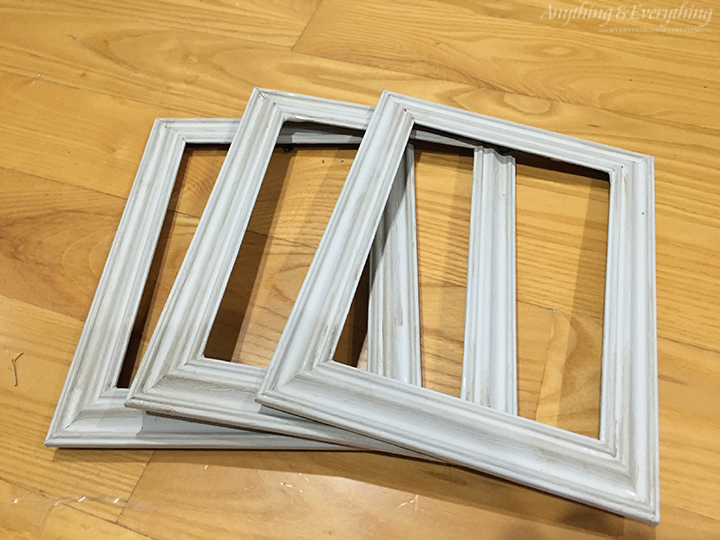 Americana Decor Chalky Painted dollar store frames