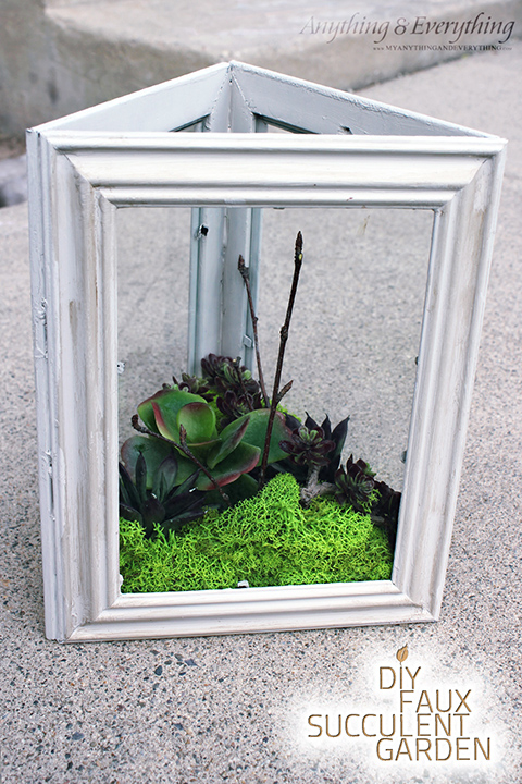 DIY Faux Succulent Garden using Dollar Store Frames - Monthly DIY ...