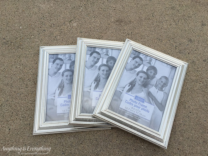 Dollar sore frames turned shadow box