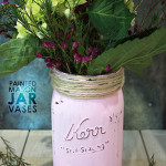 Painted Mason Jar Vase – Perfect gift for Mother's Day!
