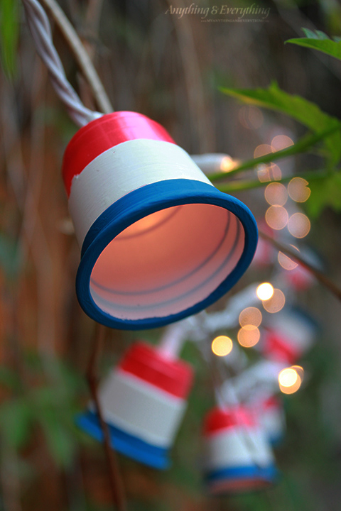 String Of Blue Lights Song : Patriotic Party Lights - Red White and Blue Blog Hop! - Anything & EverythingAnything & Everything