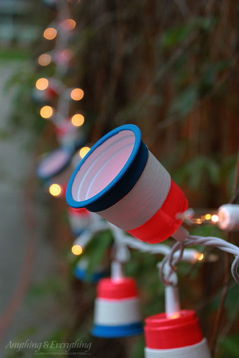 Patriotic String Lights Outdoor : Patriotic Party Lights - Red White and Blue Blog Hop! - Anything & EverythingAnything & Everything