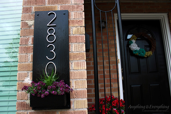 Diy address plaque monthly diy challenge anything - House number plaque ideas ...
