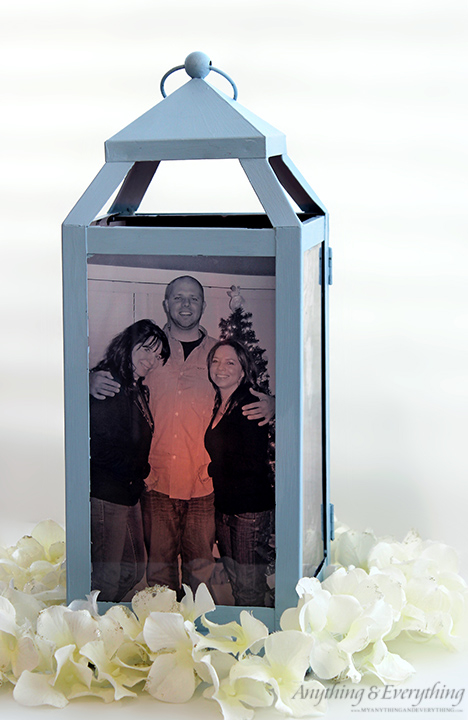 Diy Photo Lantern Centerpiece