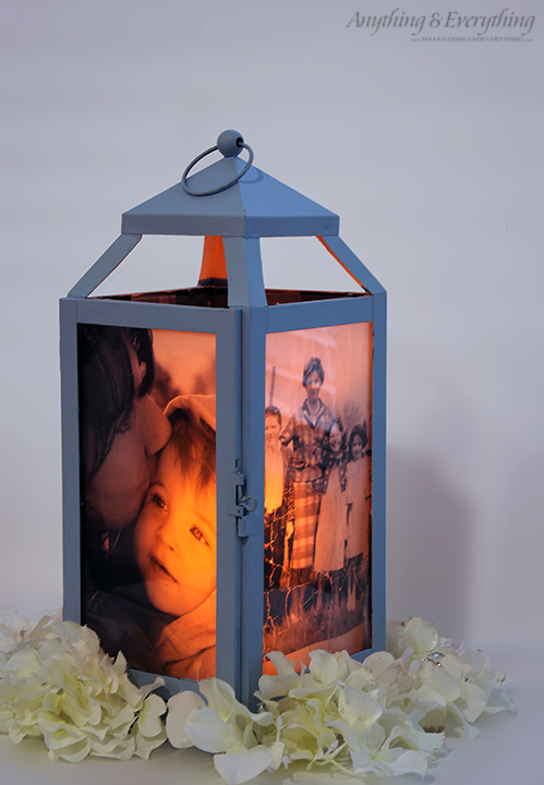 Easy painted phot lantern