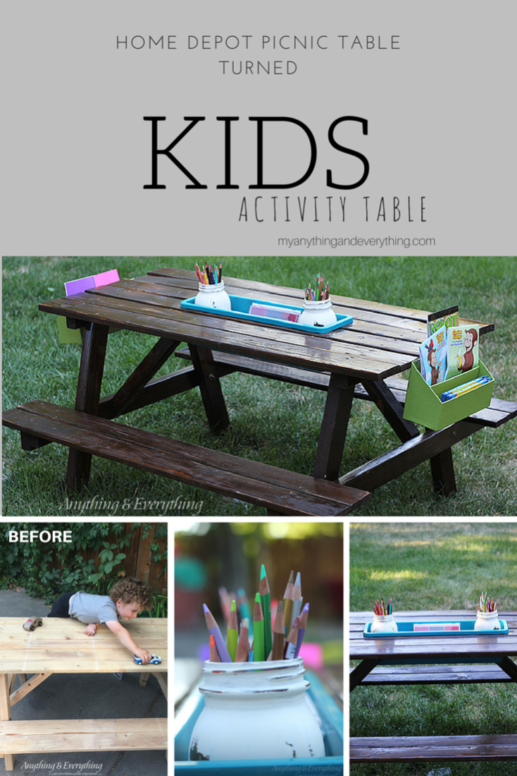 Kids Activity Picnic Table Anything EverythingAnything Everything - Ready to assemble picnic table