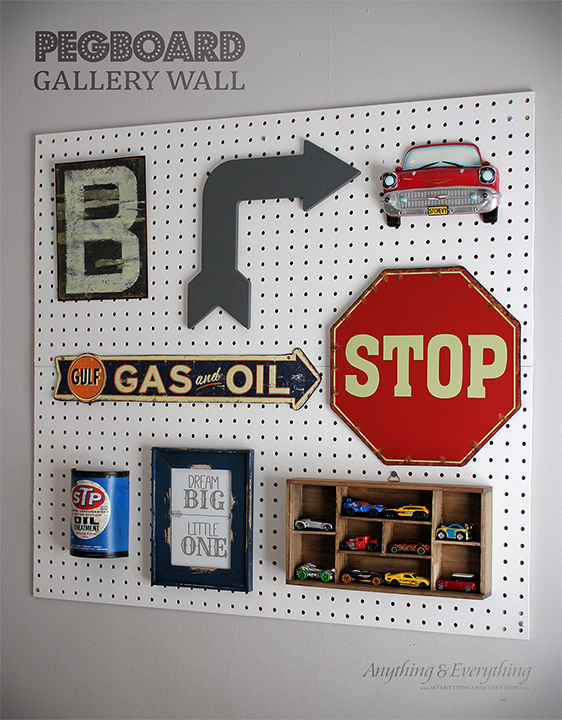 Pegboard gallery wall monthly diy challenge anything for Diy car interior decor