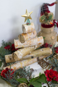 ustic Birch Wood Holiday Tree