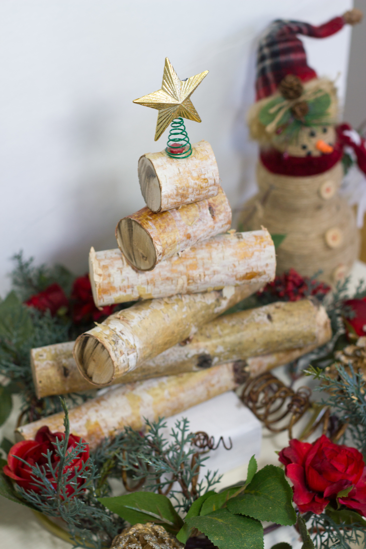 rustic birch wood tree 1 of 1 - Birch Christmas Decorations