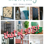 Monthly DIY Challenge Best of 2015