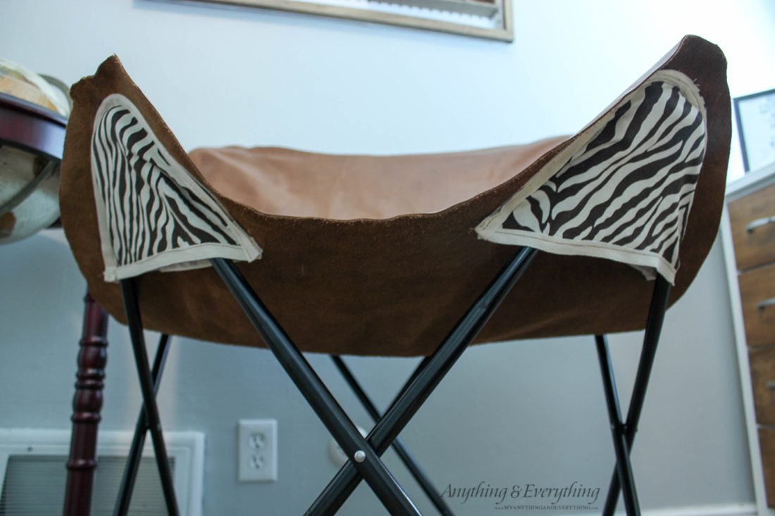 DIY Leather Butterfly chair step 5