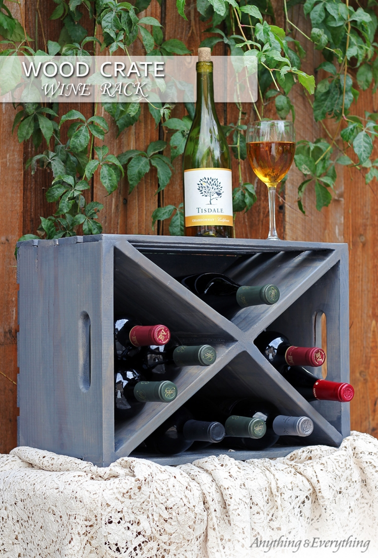 crate wine rack wood crate wine rackanything amp everything 30215
