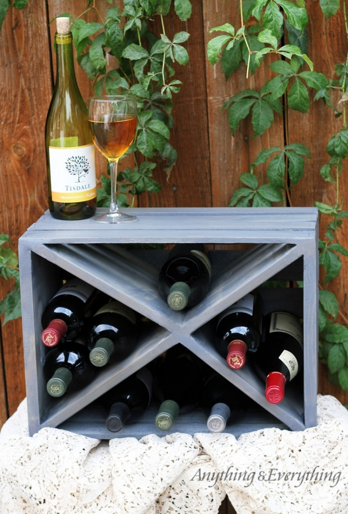 crate wine rack wood crate wine rackanything amp everything 11825